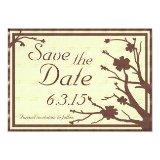 Save the Date lädt braune kundenspezifische 12,7 X 17,8 Cm Einladungskarte