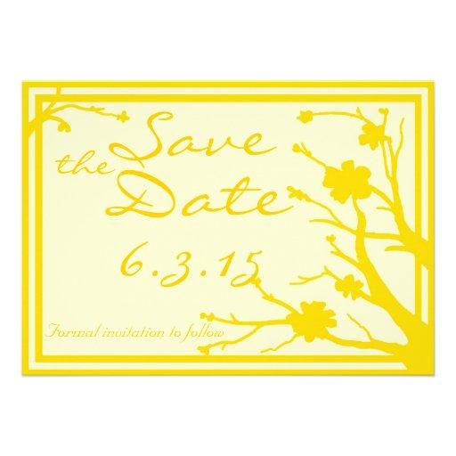 Save the Date lädt kundenspezifische gelbe Individuelle Ankündigungskarte