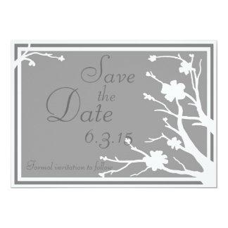 Save the Date lädt kundenspezifische graue 12,7 X 17,8 Cm Einladungskarte