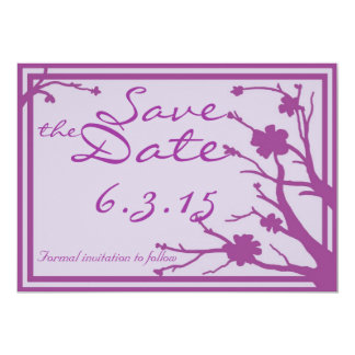 Save the Date lädt kundenspezifische lila 12,7 X 17,8 Cm Einladungskarte