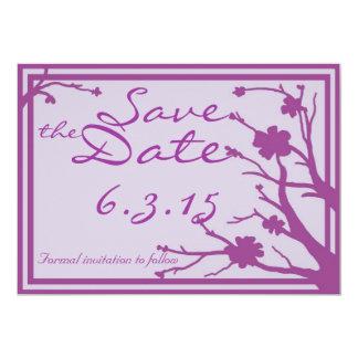 Save the Date lädt kundenspezifische lila Individuelle Ankündigungen