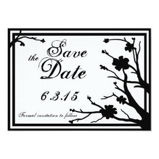 Save the Date lädt kundenspezifische schwarze mit 12,7 X 17,8 Cm Einladungskarte