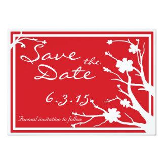 Save the Date lädt rote kundenspezifische 12,7 X 17,8 Cm Einladungskarte