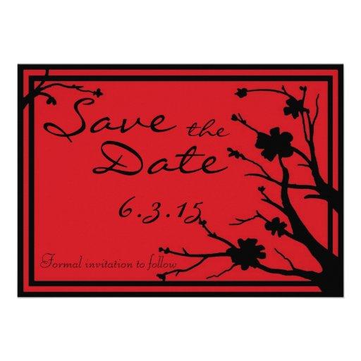 Save the Date lädt rote schwarze kundenspezifische Individuelle Einladungskarte