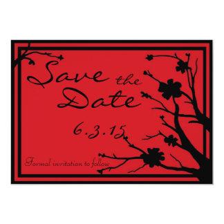 Save the Date lädt rote schwarze kundenspezifische 12,7 X 17,8 Cm Einladungskarte