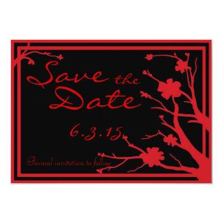 Save the Date lädt schwarze rote kundenspezifische 12,7 X 17,8 Cm Einladungskarte