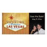 Save the Date Las- Vegashochzeits-Fotokarte