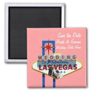 Save the Date Las- Vegashochzeits-Magnet Kühlschrankmagnet