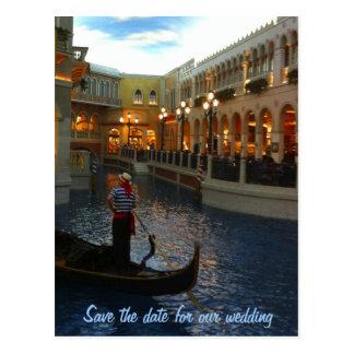 Save the Date Las- Vegashochzeits-Pläne Postkarten