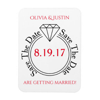 Save the Date lässige Strichmännchen-Hochzeit Magnet