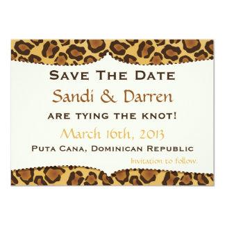 Save the Date Leopard-Druck-Hochzeit 11,4 X 15,9 Cm Einladungskarte