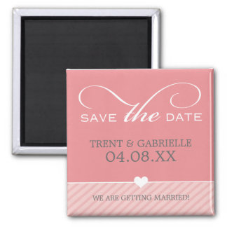 SAVE THE DATE MAGNET:: reizende Art QUADRAT-1 Quadratischer Magnet