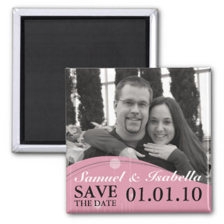Save the Date Magneten Quadratischer Magnet