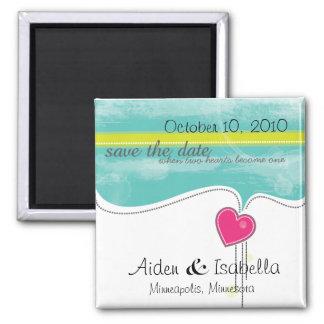 Save the Date Magneten Quadratischer Magnet
