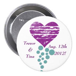 Save the Date mein Grunge-Herz-rundes Button