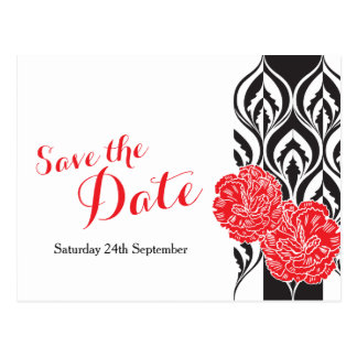 Save the Date moderne rote Postkarten