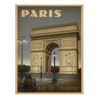 Save the Date | Paris - der Arc de Triomphe Postkarte