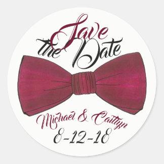 Save the Date personalisierter Hochzeits-Bräutigam Runder Aufkleber