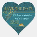Save the Date Pfau-Hochzeits-Aufkleber