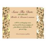 Save the Date Pfirsichorchidee - kundengerechte Sc Postkarte