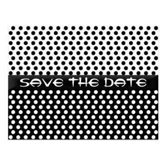 Save the Date Polka-Punkt-Postkarte Postkarte