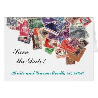 Save the Date Porto-Briefmarken Karte