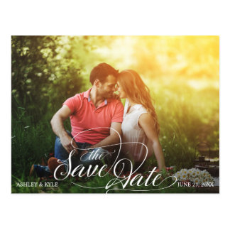 Save the Date Postkarte für Sonnenblumehochzeit Postkarte