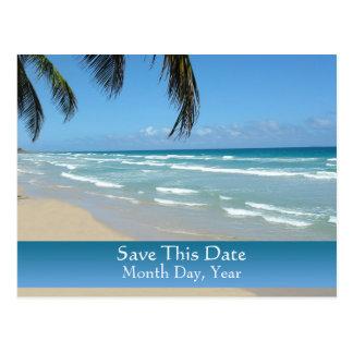Save the Date Postkarte für Strand-Hochzeit