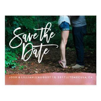 Save the Date Postkarten-Fotokarten-Koralle Postkarte