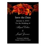 Save the Date Postkarten, orange Calla-Lilien