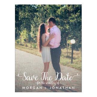 Save the Date Postkarten-Schablone Postkarte