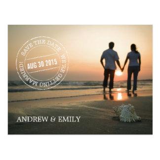 Save the Date Poststempel-Kreis-Foto-Postkarte Postkarte
