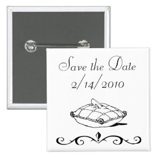 Save the Date Quadratischer Button 5,1 Cm