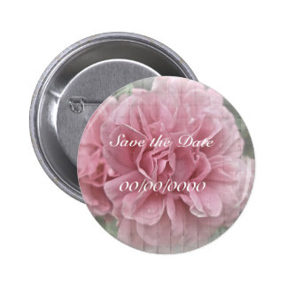 Save the Date rosa kletternde Rosen-Blüten Runder Button 5,1 Cm