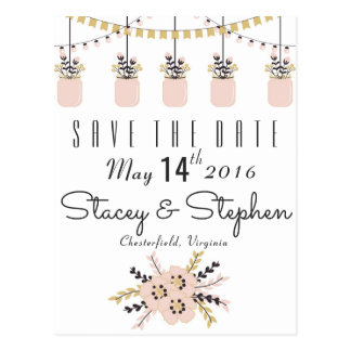 Save the Date - rustikal Postkarte