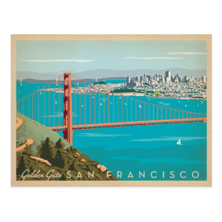 Save the Date   San Francisco, CA - Golden Gate Postkarten