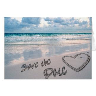Save the Date Sand-Herz-Schreiben Karte