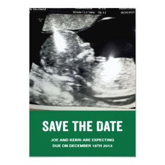 Save the Date Schwangerschafts-Mitteilung 12,7 X 17,8 Cm Einladungskarte