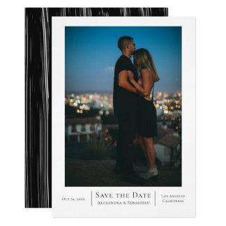 Save the Date Schwarz-weiße Hochzeit Karte
