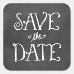 Save the Date schwarzer Tafel-Charme des Quadratsticker