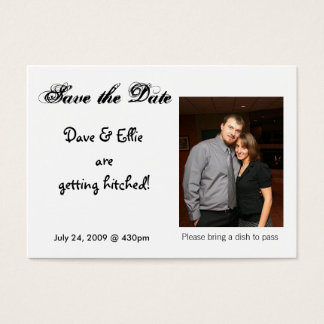 Save the Date sind Dave u. Ellie g… Visitenkarte