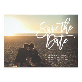 Save the Date Skript, horizontal, Landschaft 12,7 X 17,8 Cm Einladungskarte
