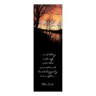 Save the Date Sonnenuntergang-Lesezeichen Mini-Visitenkarten