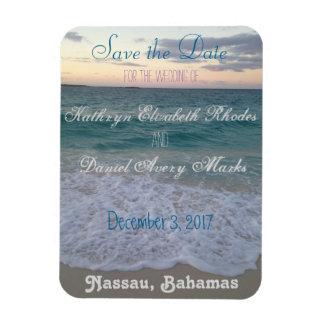 Save the Date Strand-Hochzeit Magnet