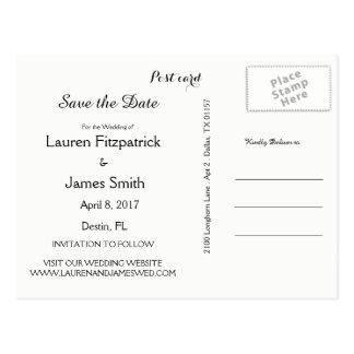 Save the Date Strand-Thema-Hochzeits-Postkarte Postkarte