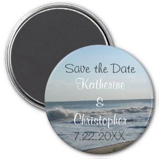 Save the Date Strand und Sand, die ringsum Kühlschrankmagnete