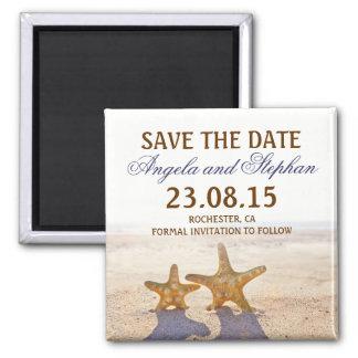 Save the Date Strandhochzeitsmagneten Quadratischer Magnet