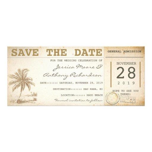 Save the Date Strandpalmenkarten - Einladungen