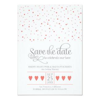 Save the Date süßer Confetti Personalisierte Einladungen