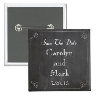 Save the Date Tafel-rustikale Vintage Hochzeit Quadratischer Button 5,1 Cm